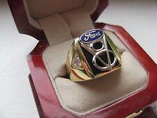 "Superb NEW Mens ""Ford V8"" CREST Gold Ring *"