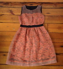 "Catherine Malandrino Designer Sample Salmon Lace Retro Jacki O Dress S 34"" Chest"