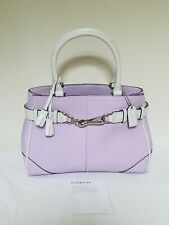 NEW Coach Hamptons Med Lilac Purple Leather Carryall Tote Bag Purse