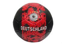 Deutschland... rot schwarz Design Deutscher Fussbal-Bund LOGO... Fussball Ball Größe: 5