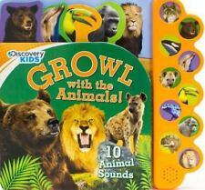 Discovery Kids 10 Button: Growl with the Animals! (2014, Board Book)