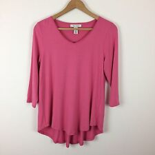 WHITE HOUSE BLACK MARKET SMALL pink super soft capsule wardrobe top shirt WHMB