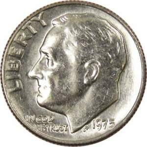 1975 Roosevelt Dime BU Uncirculated Mint State 10c US Coin Collectible