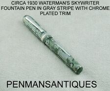 CIRCA 1930 WATERMAN'S SKYWRITER FOUNTAIN PEN IN GRAY AND BLACK STRIPES