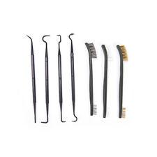 Gun Cleaning Tool Double-end 3pcs Steel Wire Brush + 4pcs Nylon Pick Set