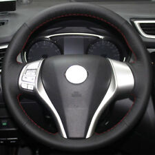 Authentic Leather Steering Wheel Cover for Nissan Rogue X-Trail 2013-2016 Altima
