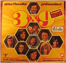 Wim thoelke, 3 x 9, edizione 1972, VG/VG, LP (3578)
