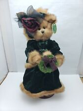 "2004 Bearington Collection Emily 14"" 1487 W/ Stand Retired Teddy Bear Victorian"
