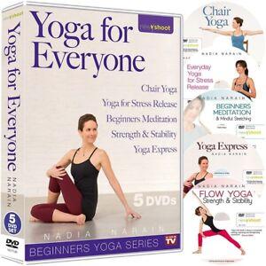 YOGA FOR EVERYONE 5 DVD SET FOR BEGINNERS NADIA NARAIN NEW SEALED