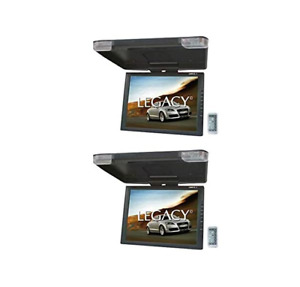 2) Legacy LMR15.1 Wide LCD TFT Car SUV TRUCK Flip Down Roof Mount Monitor TV IR