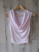 NEW $58 Michael Stars Cowlneck Tank Shell Shine Light Pink  O/S One Size