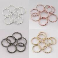 100Pc/Lot 8-20mm Jump Ring Twisted Open Split Ring Connectors For Jewelry Making