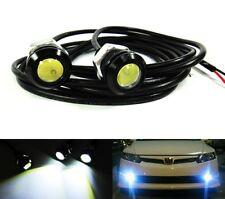 2x White Bolt On Eagle Eye LED Bumper Fog Reverse Lamp Daytime Running Light 6W