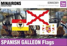 Minairons 1:600 Age of Sail - 17th century Spanish Galleon flags