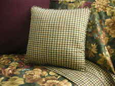 NEW Custom Ralph Lauren Edgefield Floral Check Pillow 16 inch Invis Zipper Close