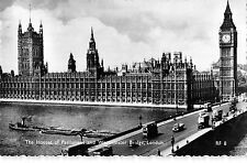 BR77286 the houses of parliament and westminster bridge  london  real photo  uk