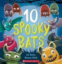 10 SPOOKY BATS by Ed Allen Children's Reading Picture Story Book Counting Animal