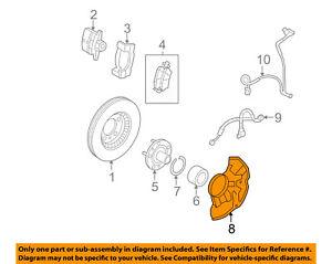 FORD OEM Front Brake-Backing Plate Dust Splash Shield 6E5Z2K005AA