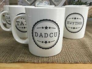 Welsh Dad Taid Tad mugs for Father's Day Birthday or Christmas gift