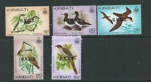 KIRIBATI SGO36/40 1983 BIRDS OFFICIALS MNH