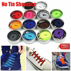 2 Perfect One Hand No Tie Laziness Convenient Shoelace Laces Elastic Xmas Gift
