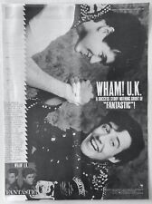 WHAM! GEORGE MICHAEL vintage 1983 POSTER ADVERT FANTASTIC