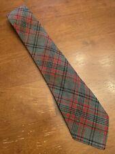 "Vtg 1930s 40s Botany 100% Wool Gray/red Argyle Swing Tie Balmoral 46"" 3.25"""