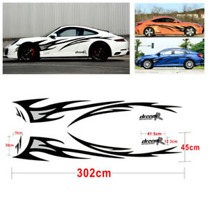 Pair Dream-R Flame Graphics Design Car SUV Body Decor Cover Vinyl Decal Stickers