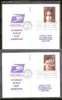 US SC #  UX386 UX389 Christmas Snowmen FDC. Postal cards ,USPS