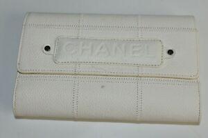 NEW Chanel Wallet Caviar Leather White Cream  CC Logo Purse