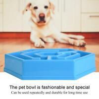 Safety Anti Choke Pet Dog Cat Feeding Food Bowls Puppy Slow Down Eating Feeder