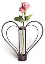 Danya B. QB106 Decorative Sweetheart Iron and Clear Glass Flower Bud