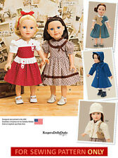 SEWING PATTERN! MAKE 40'S STYLE DOLL CLOTHES! FITS AMERICAN GIRL MOLLY~KIT~EMILY