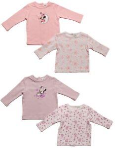 Minnie Mouse Langarmshirts im 2er Pack Weiß/Lila oder Weiß/Rosa