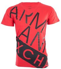 Armani Exchange BIAS Mens Designer T-SHIRT Premium RED BLACK Slim Fit $45 NWT