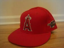 lowest price dc76c f56ee VTG Los Angeles Angels New Era 7 5 8 hat cap 2002 World Series Side