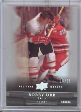 2012 Upper Deck All Time Greats Bobby Orr Silver Parallel Card # 16/35