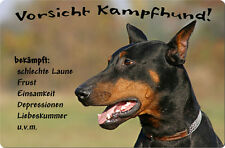 DOBERMANN - A4 Metall Warnschild SCHILD Hundeschild Alu Türschild - DBM 14 T13