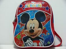 Disney Mickey Mouse Clubhouse School Backpack Donald Goofy 10 Inches Blue Yellow