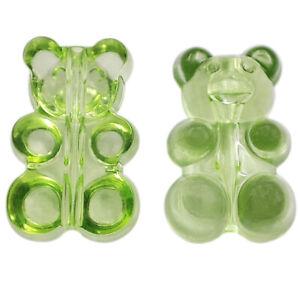 10Pcs Transparent Bear DIY Accessories Handing Craft For Jewelry Making Pendant