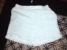 sz 5 Custom made boutique blue white gingham shorts ruffle GUC