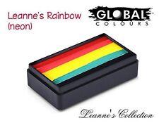 Global Body Art Face Paint - FunStroke Leanne's Rainbow (Neon) LC 30gr