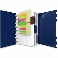 "Ampad Spiral Notebook Poly Cover 60 Sht 5-1/2""x8-1/2"" Navy 25635"