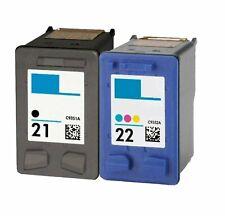 2 Pack Ink Cartridges Printer For HP 21 22 Black Color Deskjet F4100 F4180