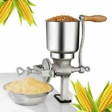Tall Cast Iron Mill Grinder Hand Crank Manual Grains Oats Corn Wheat Coffee Nut