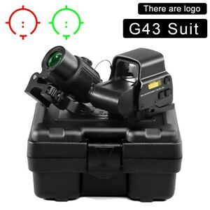 G43 3x Sight Magnifier With Switch To Side Qd Mount + 558 Red Green Dot Clone ✅