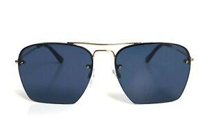 TOM FORD WALKER Square Pilot Men SUNGLASSES Shiny Gold Dark Blue 0504 28V 57mm