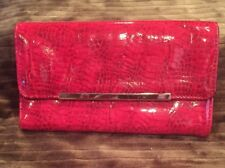 Snake Skin Faux Leather Wallet - Red
