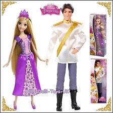 "Disney Princess RAPUNZEL and PRINCE FLYNN RIDER Sparkle 12"" Doll TANGLED New"