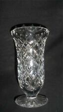 RETRO VINTAGE  24% LEAD BOHEMIA  CRYSTAL VASE  CZECH REPUBLIC